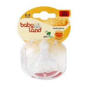 سر شیشه دهانه عریض فندقی بی بی لند (Baby Land) کد 499 مناسب 0 تا 6 ماه