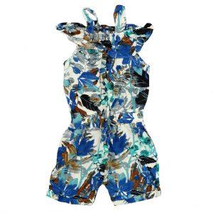 سرهمی بندی دخترانه یونیکو آبی کاربنی سفید