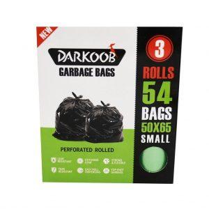 کیسه زباله پرفراژدار دارکوب 3 رول کوچک سبز 54 عددی