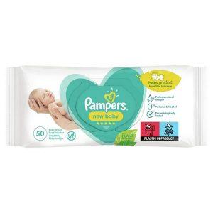 دستمال مرطوب کودک درب دار پمپرز Pampers بسته 50 عددی